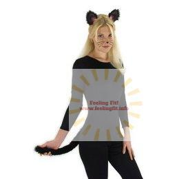 Elope - Cat Ears And Tails Too Black Costume Accessory