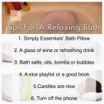 Simply Essential Tips for A Relaxing Bath — Get a Good Bath Pillow!