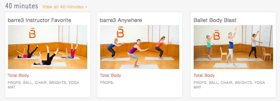 Barre3 online streaming service screenshot