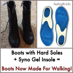 Boots Not Made For Walking? These Insoles Help!  #insoles