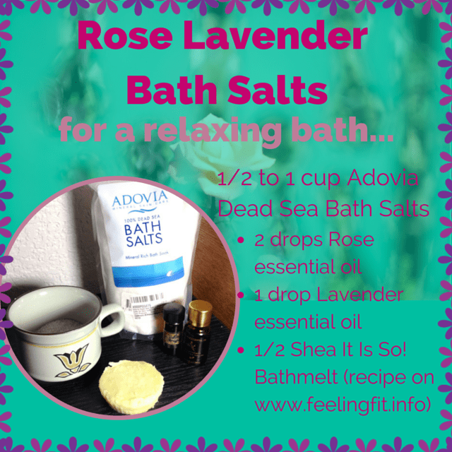 Rose Lavender Bath Salt
