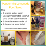 R & R Tips: DIY Peppermint Lemonade Foot Scrub