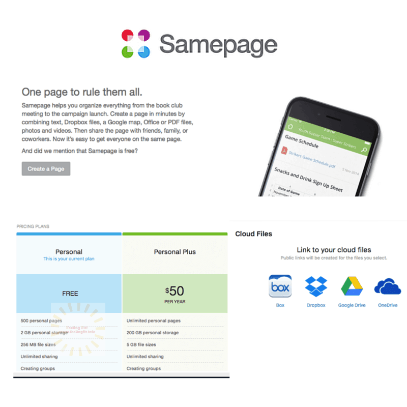 Samepage is a free app that helps you plan events or trips  and collaboraate with others