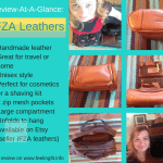 IFZA Leathers handmade shaving kit (or cosmetic case) is an essential for travel or for organizing toiletries at home.