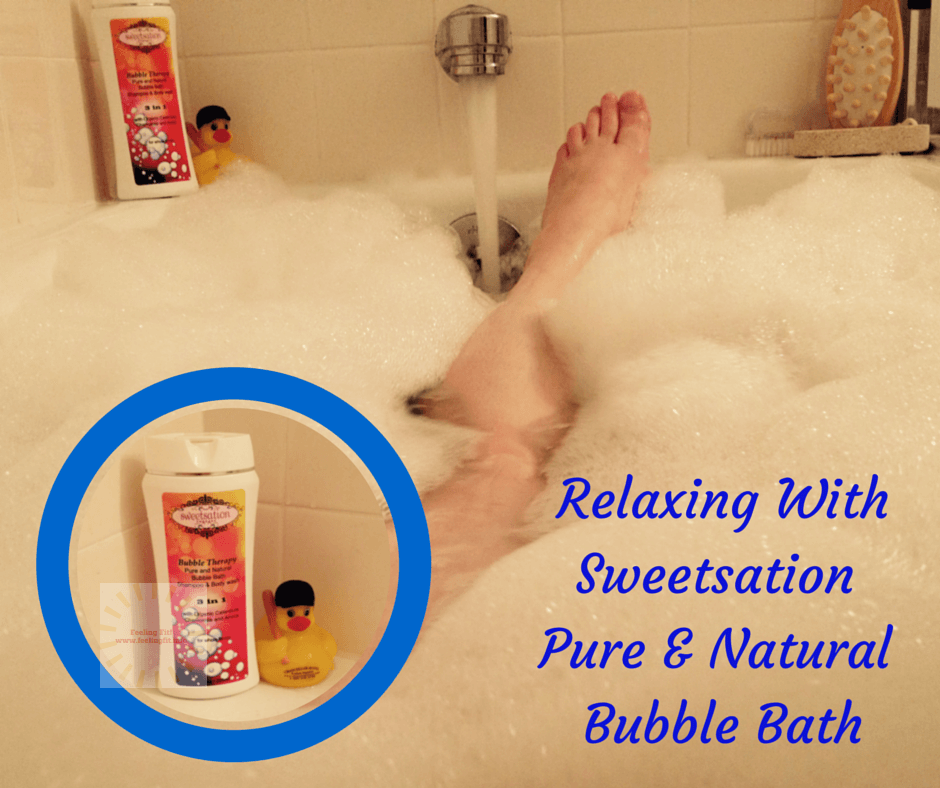Sweetsation Bubble Therapy Pure & Natural Bubble Bath, 3 in 1 is a relaxing bubble bath for all ages containing natural and organic ingredients.