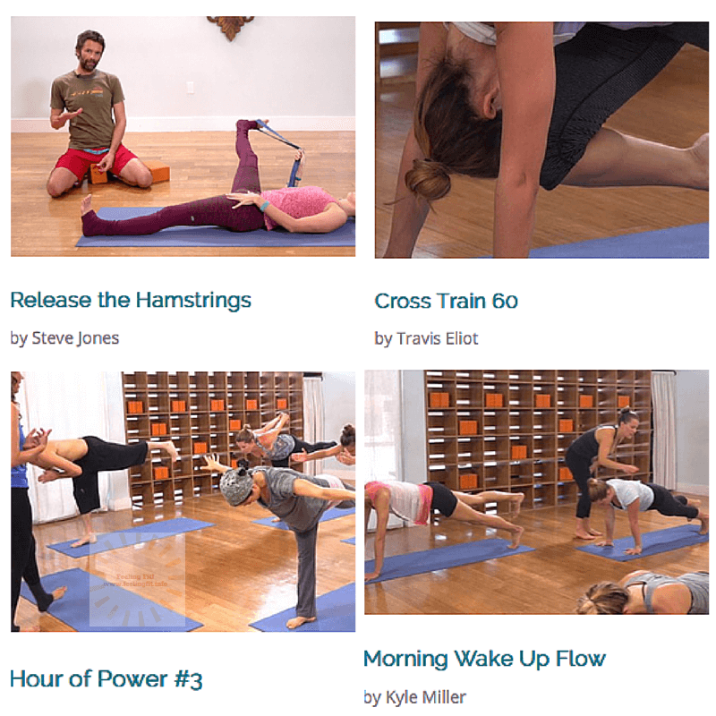 The Yoga Collective Offers online classes ranging from 10 minutes to 60 minuts in duration.