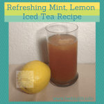Recipe for a cool, refreshing lemon mint ice tea using zest of lemon, fresh mint and loose leaf black tea.