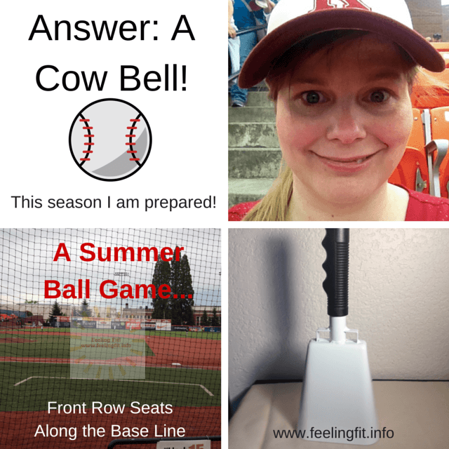 My cheers will not go unheard this Summer thanks to my new Cow Bell!