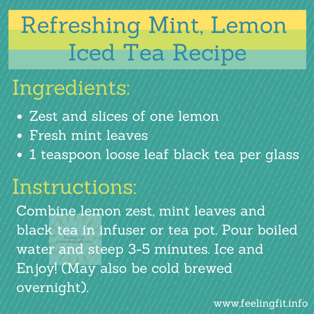 A Refreshing Mint and Lemon Ice Tea Recipe