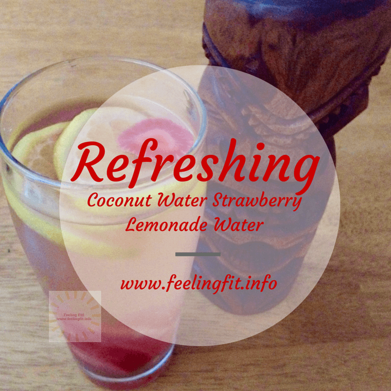 A Recipe for a healthy and refreshing Coconut Water Strawberry Infuded Lemonade Water from www.feelingfit.info and also a giveaway for a free Glasstics Shatterproof Glass Water Bottle (ending July 12, 2015).
