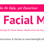 A recipe for a DIY Moroccan Clay, Matcha, Rosehip oil, Argan oil and Floral Water Mask on www.feelingfit.info