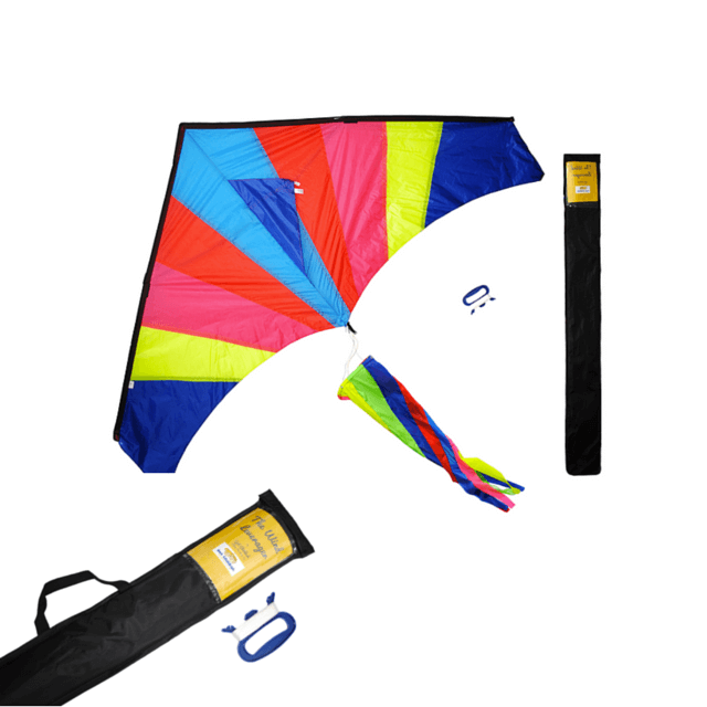 The Wind Leverager from Get Childish is a beautiful, classic, colorful kite that is easy to fly. See full review on www.feelingfit.info