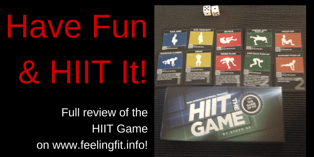 The HIIT Workout Game makes Sweat Fun! See www.feelingfit.info for a full review. #fitfam #review #HIIT