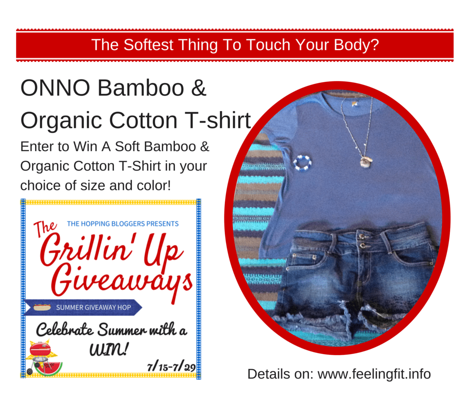 Enter to Win a Free ONNO Bamboo and Organic Cotton T-shirt on www.feelingfit.info from 7/15 -7/29  (11:57 pm Eastern) 2015.