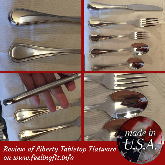 Liberty Tabletop offers quality made in the USA flatware that is good for you and stylish. The Heritage Collection is a moderately priced every day silverware line that is a wonderful gift for weddings, graduations, and new homes. See full review on www.feelingfit.info (Disclosure Feeling Fit received a free sample for review).