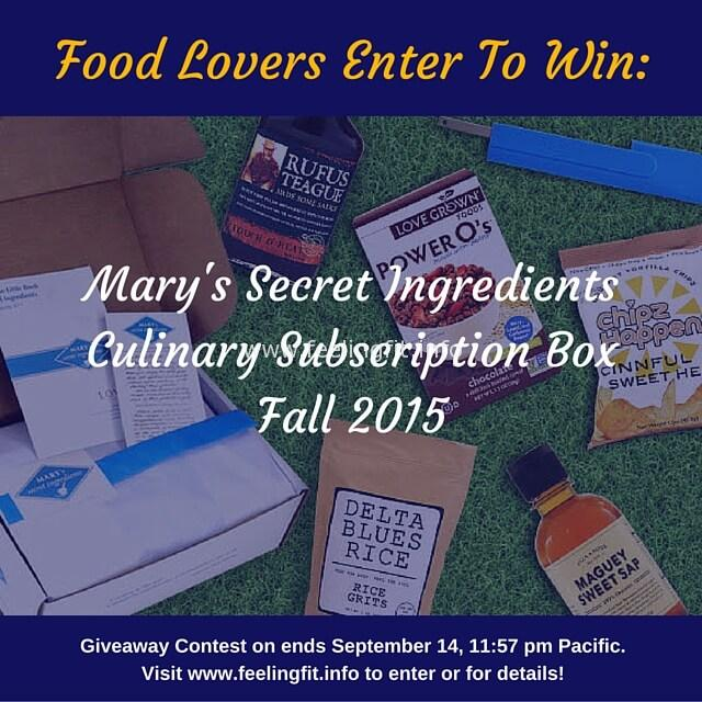 Mary's Secret Ingredients Fall 2015 Giveaway
