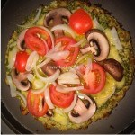 Healthy Cauliflower Crust Pesto Pizza