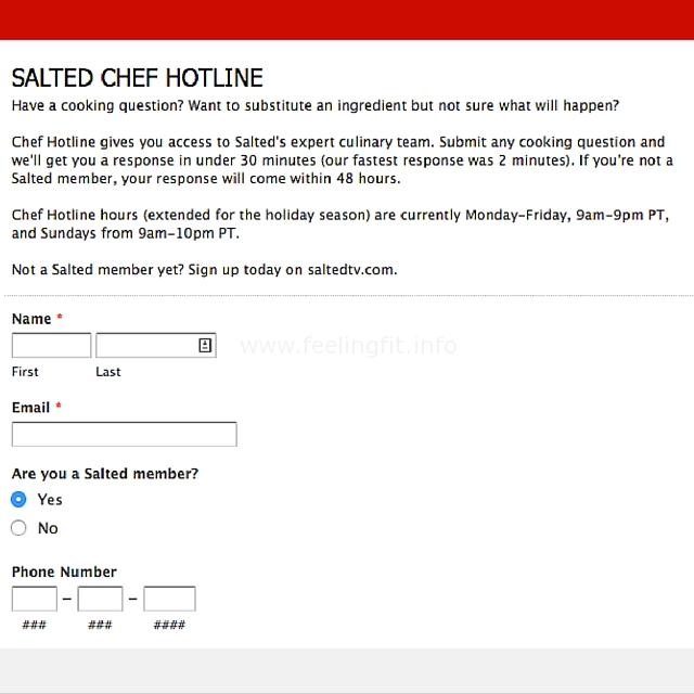 Salted Chef Hotline