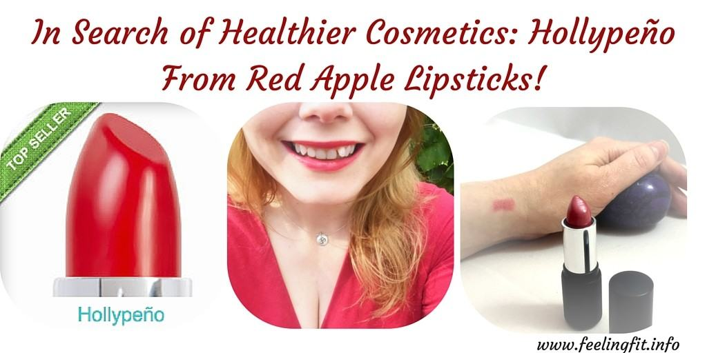 In Search of Healthier Cosmetics-Red Organic Lipstick from Red Apple Lipsticks
