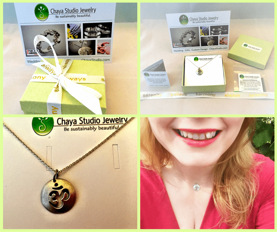 Chaya Studio Jewelry lives up to their mission of creating sustainably beautiful jewelry that is made in the USA. See review on www.feelingfit.info