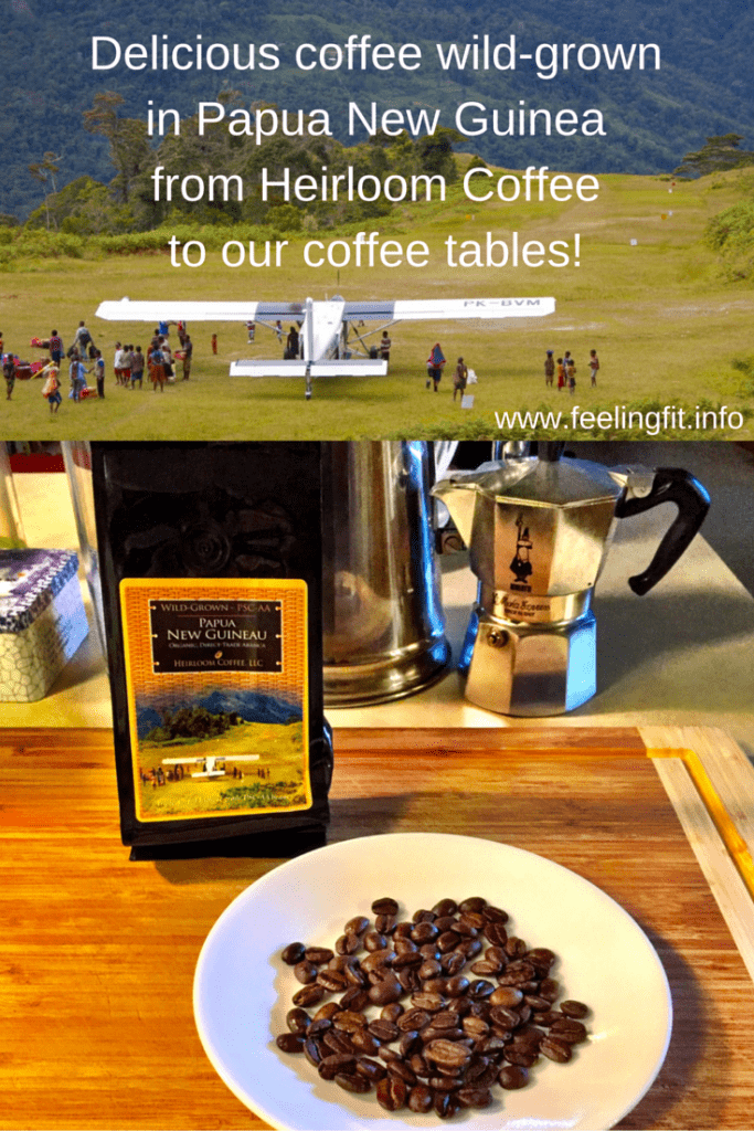 Delicious coffee wild-grown in Papua New Guinea from Heirloom Coffee to our coffee tables!