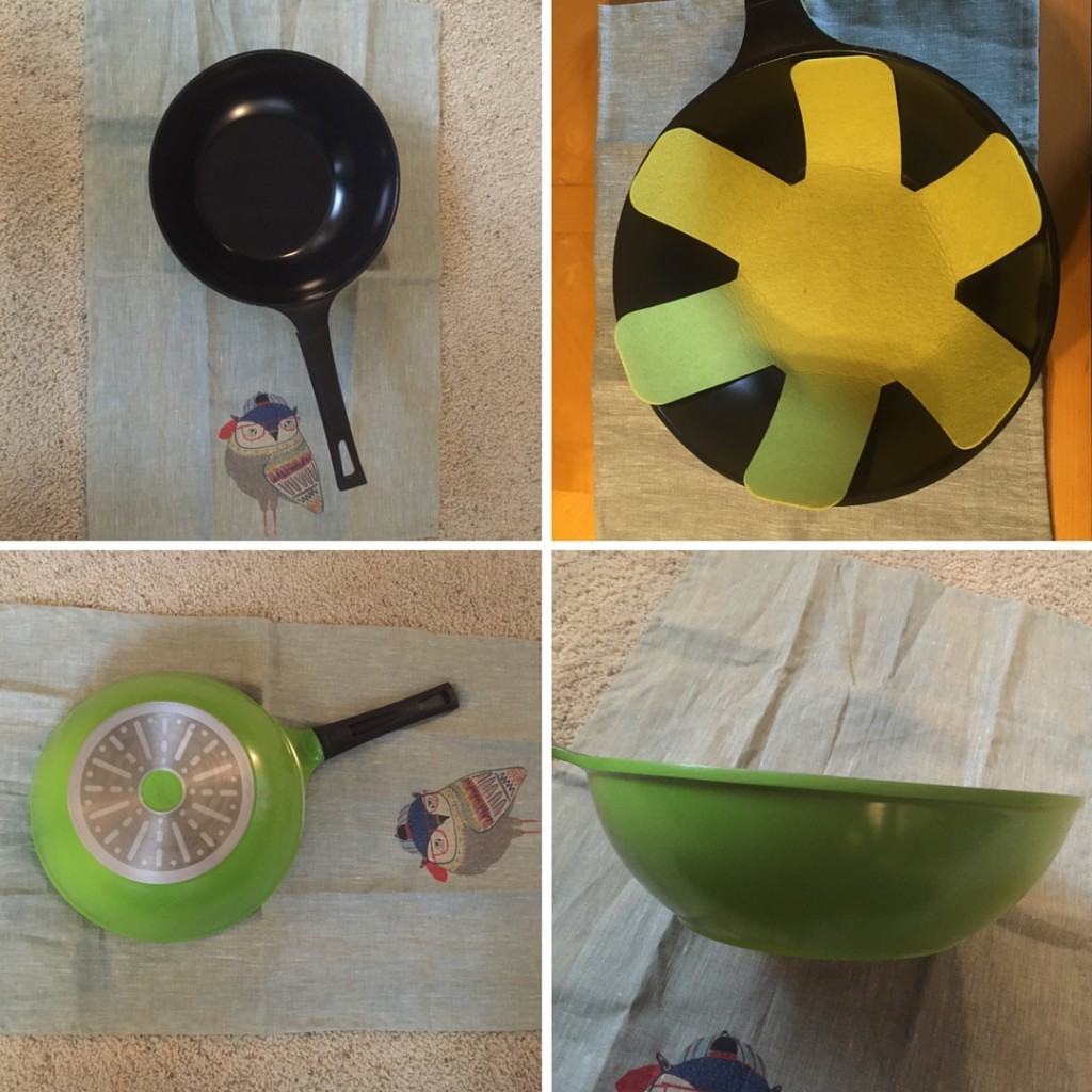 Four different views of the Ozeri Green Earth Ceramic Wok, see full review on www.feelingfit.info