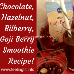 Chocolate Hazelnut Bilberry Smoothie Recipe