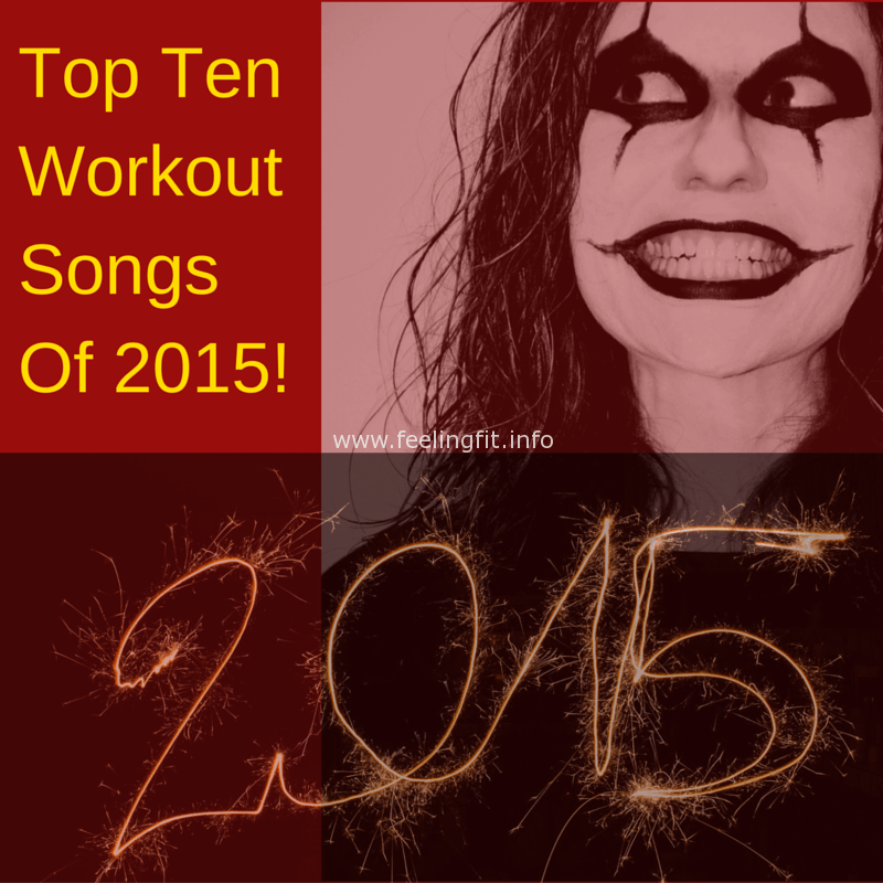 Ten popular workouts songs according to Run Hundred site users and a tip for choosing your best exercise music playlist via www.feelingfit.info
