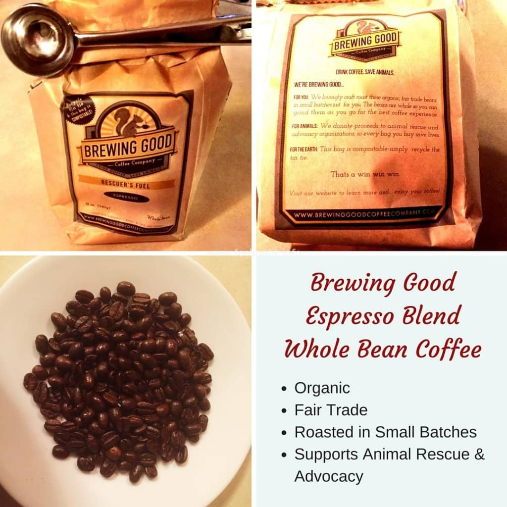 Brewing GoodEspresso Roast Whole Bean Coffee