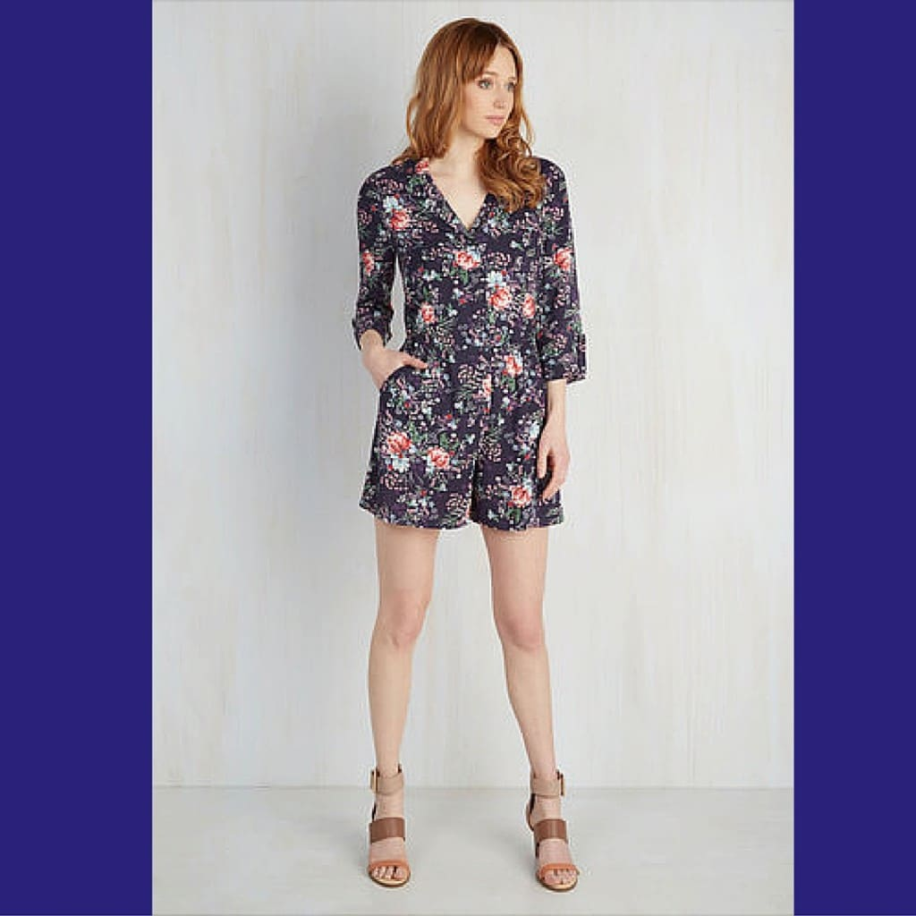 So Field with Joy Romper from Modcloth