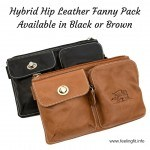 Hybrid Hip Leather Fanny Pack