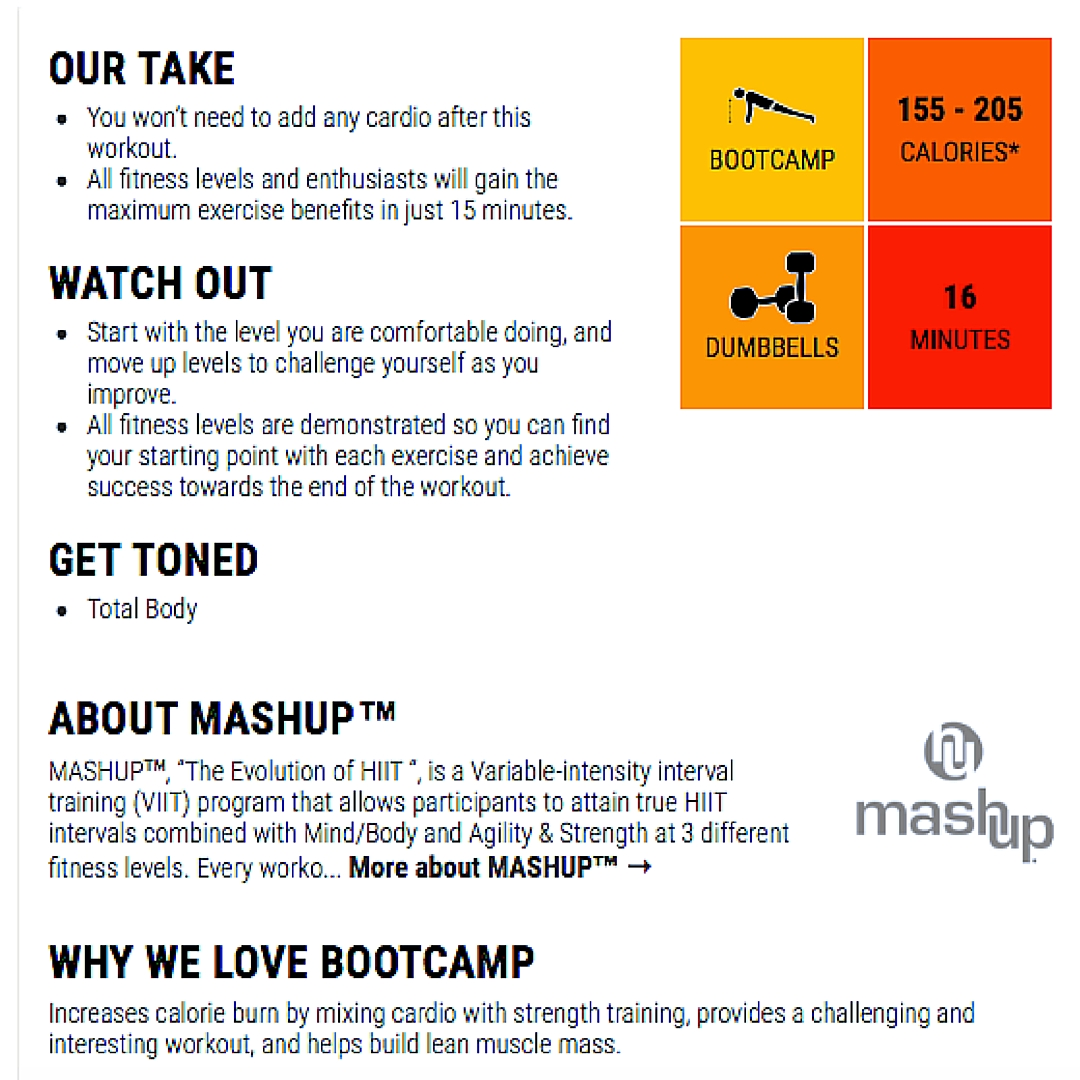 Mash-Up Conditioning Fuses Conditioning Exercises + Mind