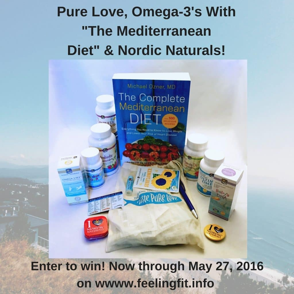 Omega-3's For A Happy & Healthy Family! Visit www.feelingfit.info now through 5/27/2016 for a chance to win a Nordic Naturals Pure Love prize package worth over $100!