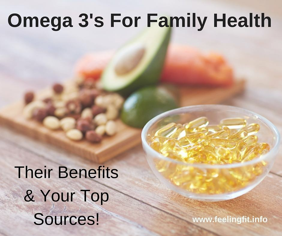 Omega-3's are essential for family health. While many foods are rich in Omega-3's, 91% of people are deficient according to Nordic Naturals. See www.feelingfit.info for information and a chance to win a Nordic Naturals prize pack!