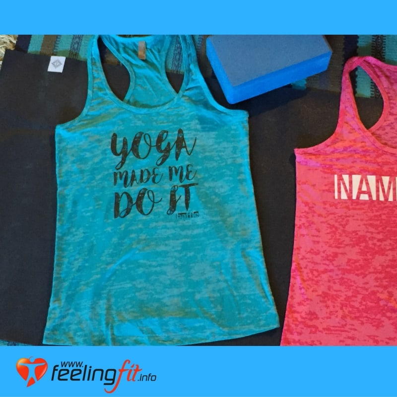 Blue Yoga Made Me do It Tank Top From Baffle