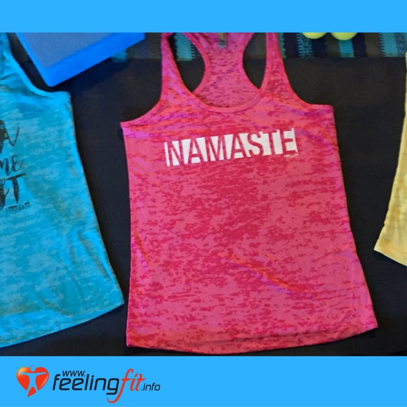Pink Namaste Yoga Tank Top From Baffle