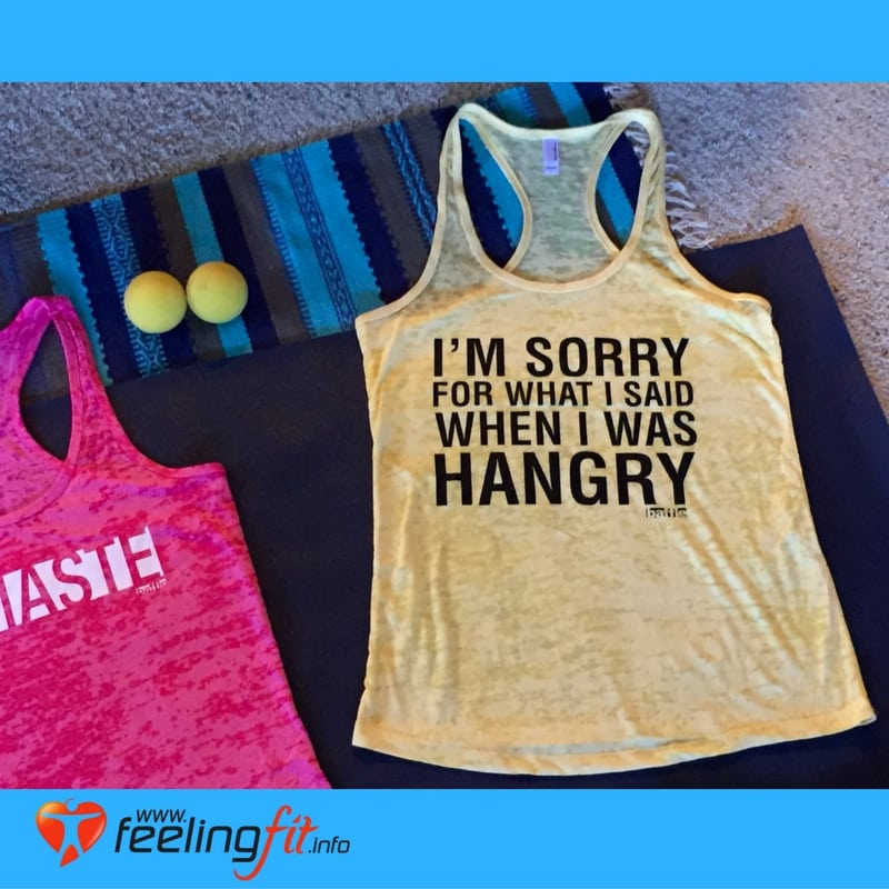 Yellow I Was Hangry Yoga Talk Top From Baffle