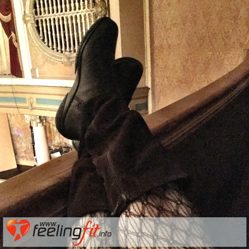 Kicking back in my chocolate brown Mystery boots by Hotter Shoes